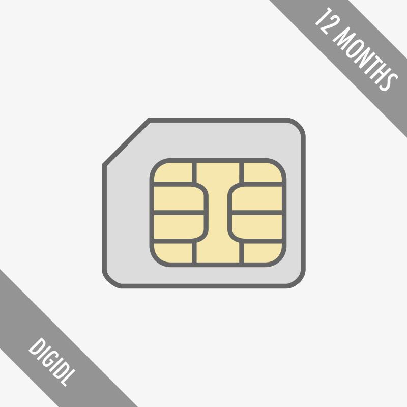 Remote tachograph download sim